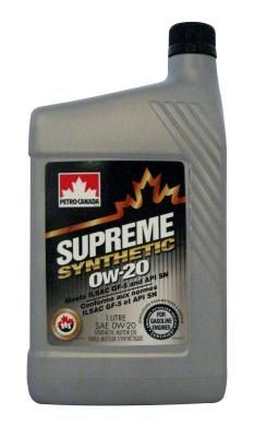 Petro-Canada Supreme Syntetic 0W-20