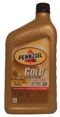 Pennzoil Gold SAE Synthetic Blend Motor Oil 5W-30
