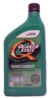Quaker State Advanced Durability SAE 10W-30 Motor Oil
