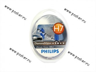 Лампа галоген 12V H7 55W PX26d Philips DiamondVision 12972DVS2 К-т Польша 12972DVS2 Philips